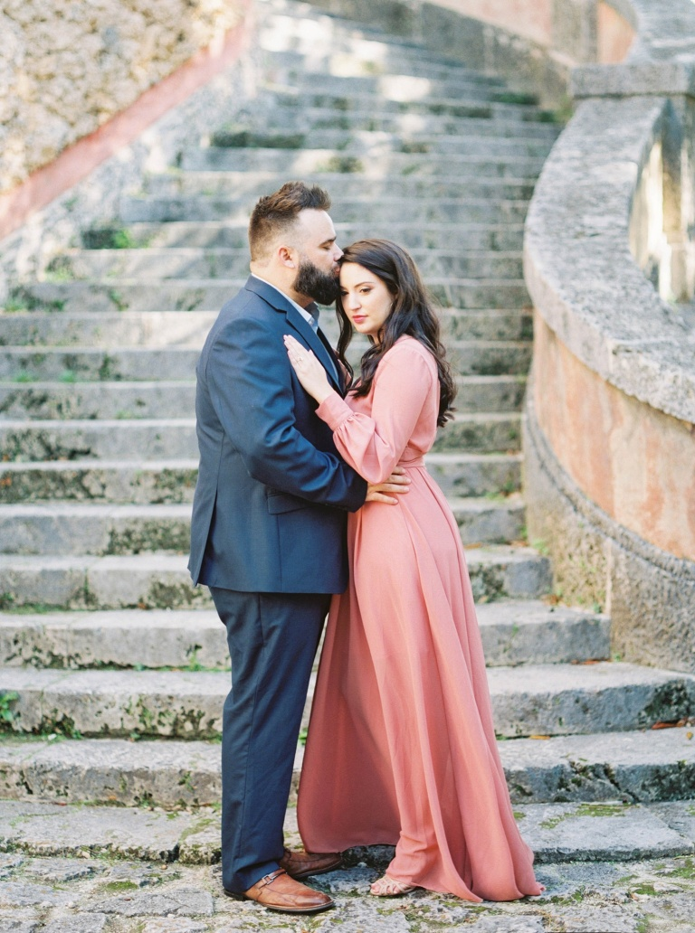 Beautiful engagement session at the Vizcaya Museum and Gardens by Denver Co Engagement Photographer Amanda Berube Photography