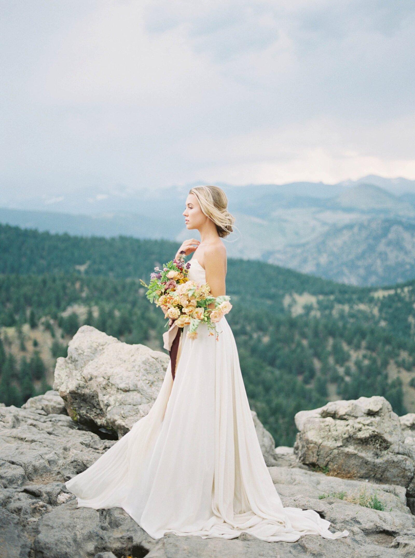 Vail Bridal session by wedding photographer amanda berube