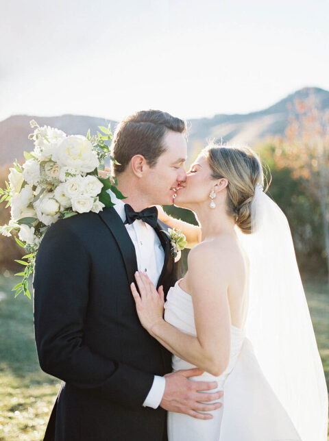 Bride and Groom in light and airy wedding photos from The Manor House Littleton, Colorado by Amanda Berube Photography